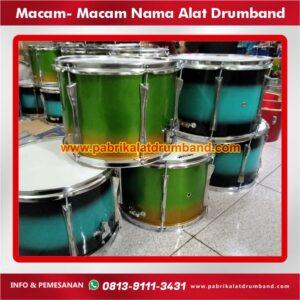macam macam nama alat drumband