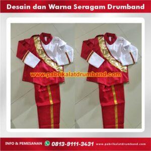 desain dan warna seragam drumband